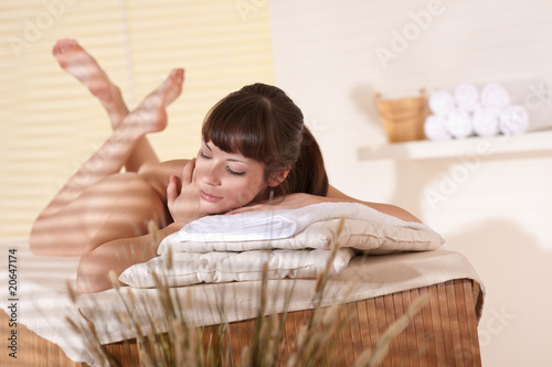 Spa - Young happy woman at wellness therapy