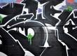 Fototapete Kreuzung - Dunkel - Graffiti