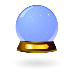 vector snow globe isolated