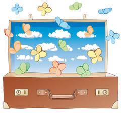 farfalle dalla valigia
