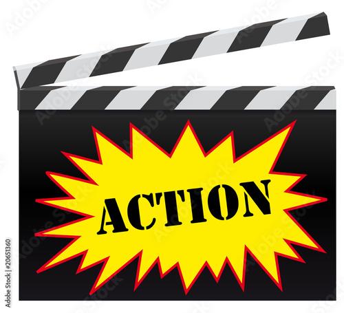 papier peint clap cinema action cin ma film. Black Bedroom Furniture Sets. Home Design Ideas
