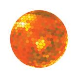 Discoball in orange tones poster