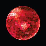 Red DiscoBall poster