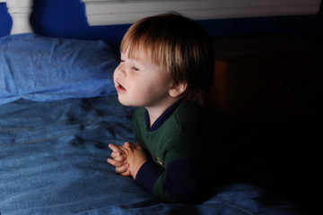 Praying Toddler