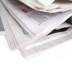 Isolated newspaper