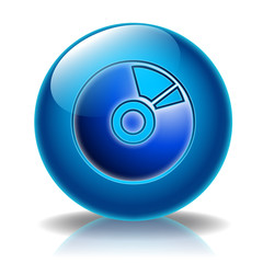 CD DVD glossy icon