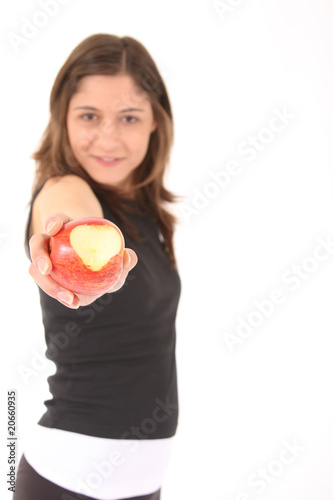sports woman apple
