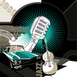 roleta: Designed musical retro background