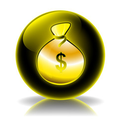 Dollars glossy icon