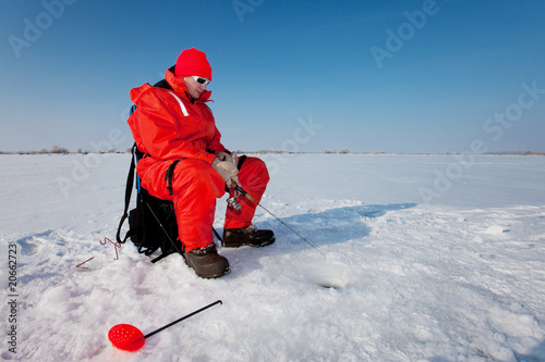 Foto op Plexiglas Vissen Fishing on ice