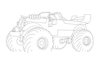 monster truck isolated on background