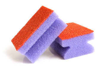 Red and violet sponges