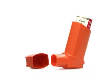 Inhalator, orange | isoliert
