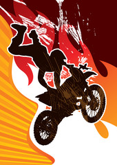 Extreme motor cycling poster