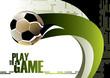 roleta: Football poster background