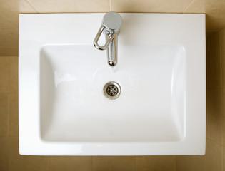 ceramic white washing sink