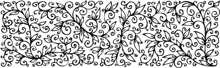 Floral texture. Eau-forte.