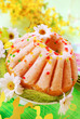 easter ring cake with glaze