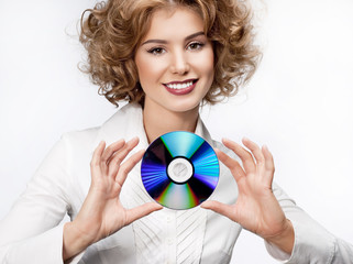 woman beauty with disc