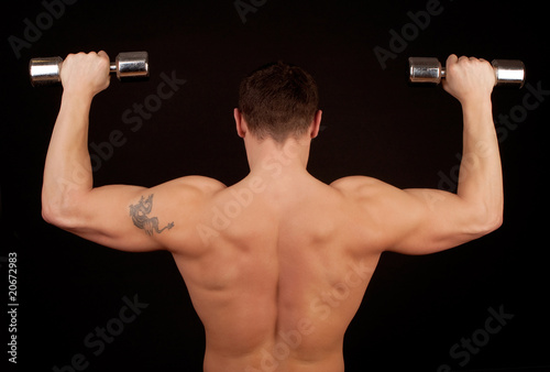 Athletic male from behind