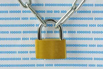 sicurezza informatica - lucchetto con catena