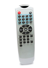 Remote control isolated on the white background