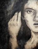 Fototapety Gemälde einer jungen Frau