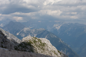 Julian Alps in Slovenia Mountains