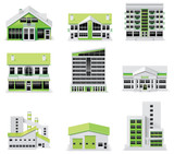 Fototapety Сity map creation kit (DIY). Part 1. Buildings
