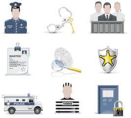 Vector law and order icon set. Part 2