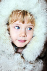 little girl in furs