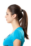 Brunette with ponytail poster