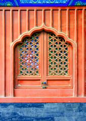 Beijing Beihai imperial park Tianwang Palace window