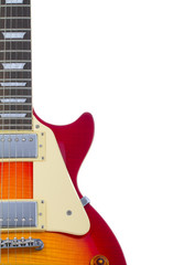 sunburst electric guitar isolated on white background