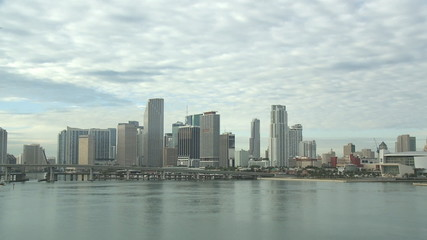 Skyline of Miami on a cloudy day