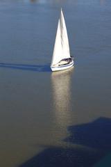 White sailboat.