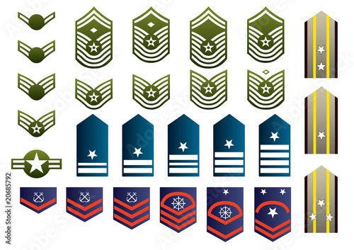 Military insignia isolated