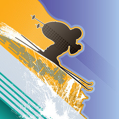 Modern abstract background with skier