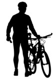 Bicyclist on vacation poster