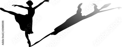 ballerina con ombra