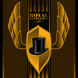 Royal gentleman background poster