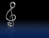 Safety Pin Treble Clef