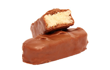 Coconut filled chocolate bar