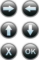 Buttons with dark blue a shade for website