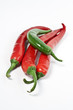 Pepperoni in grün und rot