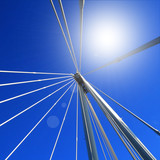Bridge against a blue sky