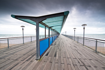 Boscombe Pier on a stormy day