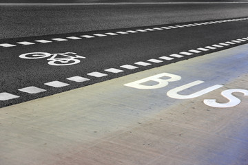 Bus and bicycle lane