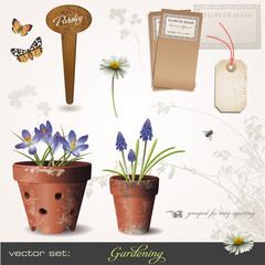 vector set: gardening