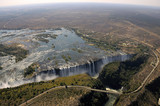 Fototapety Victoria Falls view from the sky